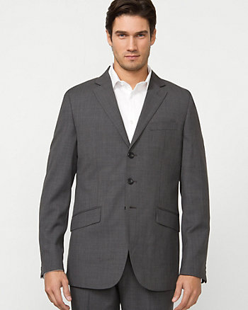 Cross Dyed Wool Blend Contemporary Fit Blazer