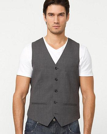 Wool Blend Crossdye Vest
