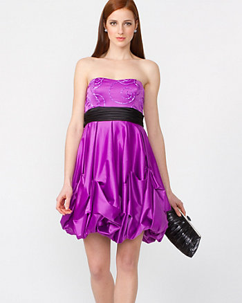 Satin Bubble Dress
