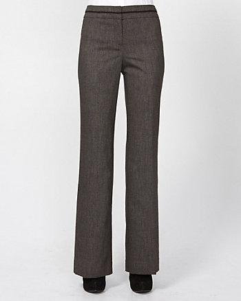 Wool Blend Flare Leg Pant
