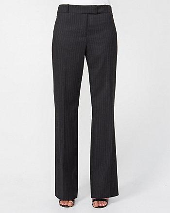 Striped Wool Blend Flare Leg Pant