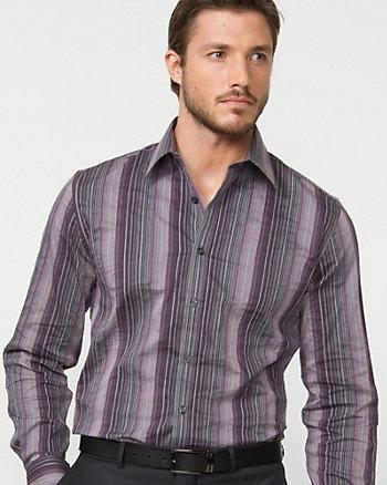 Poplin Stripe Tailored Fit Shirt