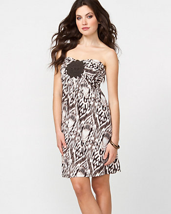 Tribal Print Tube Mini Dress
