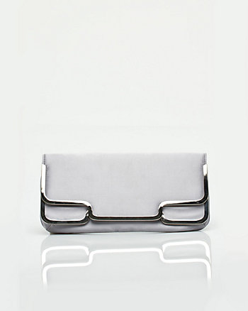 Satin Metal Trim Clutch