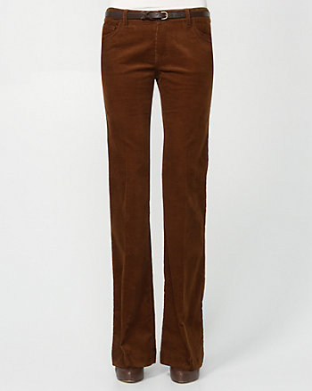 Belted Corduroy Trouser