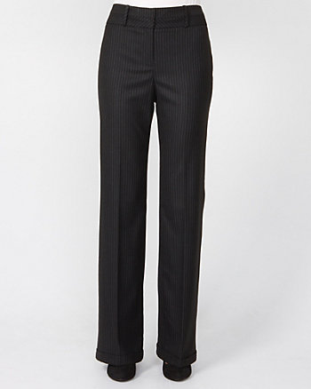 Chalk Stripe Wool Blend Trouser