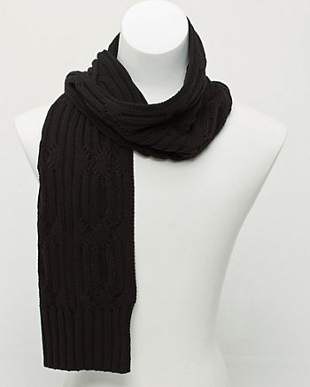 Cotton Blend Textured Scarf