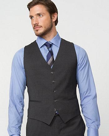 Wool Multi-Stripe Vest