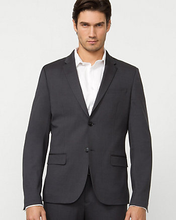 Stripe Wool Blend City Blazer