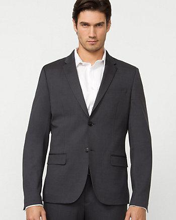 Stripe Wool Blend City Blazer