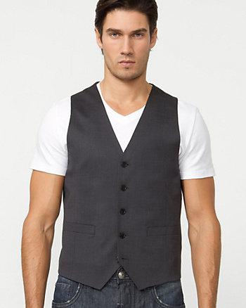 Wool Blend Micro Stripe Vest
