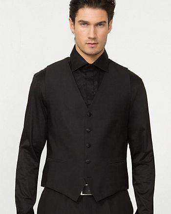 Wool Blend Tonal Stripe Vest