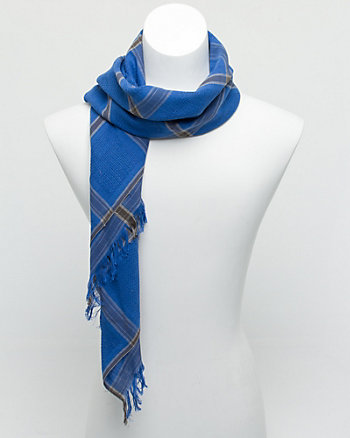 Cotton Check Scarf