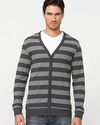 Stripe Cotton Cardigan