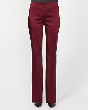 Acetate Slight Flare Leg Pant