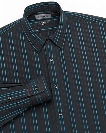 Poplin Stripe Regular Fit Dress Shirt