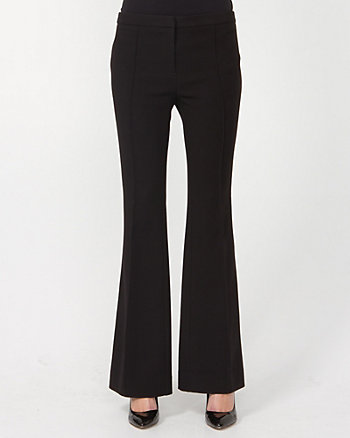 Double Weave Flare Leg Pant