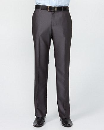 Shiny Herringbone Straight Leg Pant