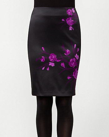 Melano Floral Print Pencil Skirt