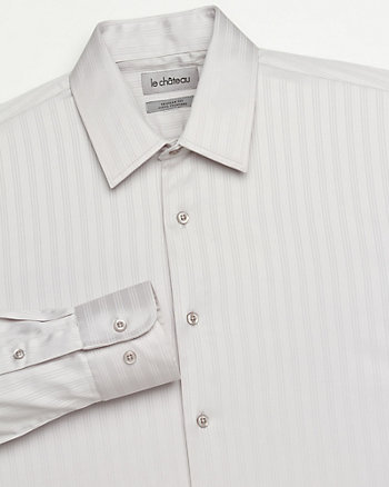 Sateen Tonal Stripe Dress Shirt