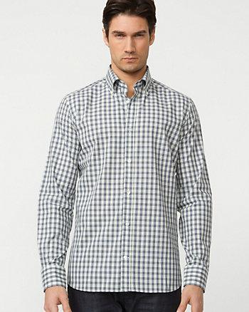 Cotton Check Slim Fit Shirt