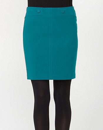 Double Weave Straight Skirt