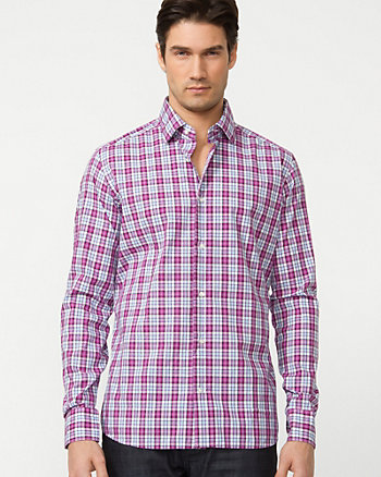 Cotton Check Regular Fit Shirt