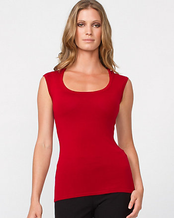 Fitted Scoop Neck Shell