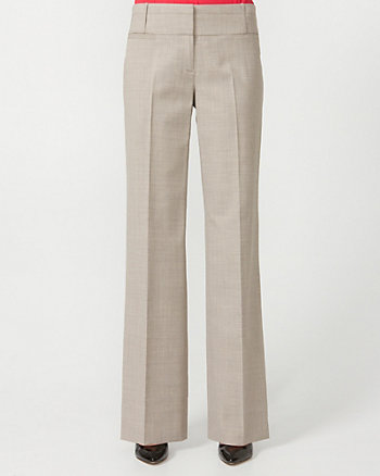 Wool Blend Wide Leg Pant