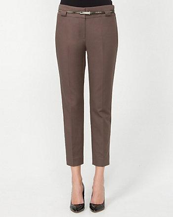Cotton Belted Slim Leg Pant