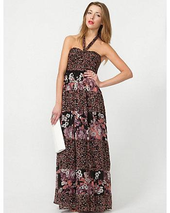 Chiffon Ditsy Print Maxi Dress