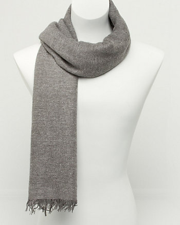 Italian Made Wool Blend Rectangular Scarf