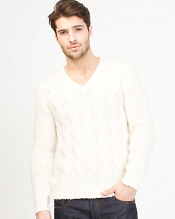 Wool Blend Textured Sweater