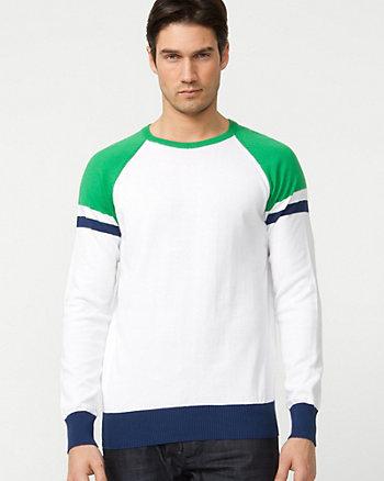 Cotton Colour Block Sweater