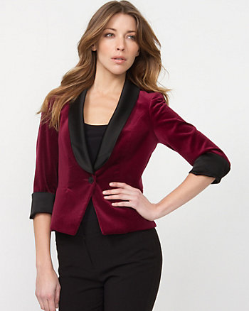 Cotton Lyocell Shawl Collar Blazer