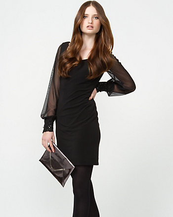 Matte Jersey Cocktail Dress