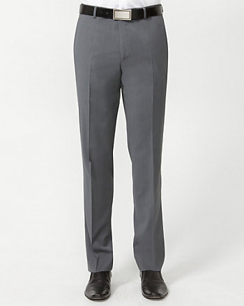 Wool Check Slim Leg Pant