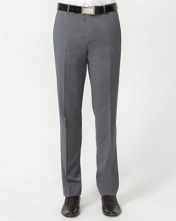 Wool Check Slim Leg Pant