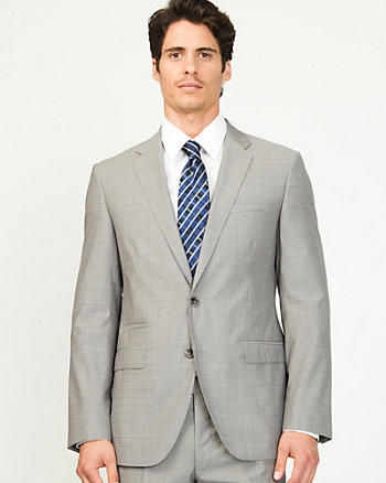 Wool Check Tailored Blazer