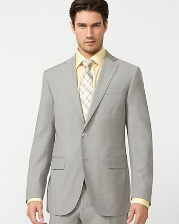 Stripe Wool Tailored Fit Blazer