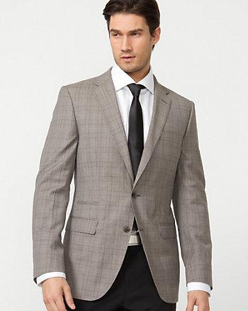 Wool Check Slim Fit Blazer