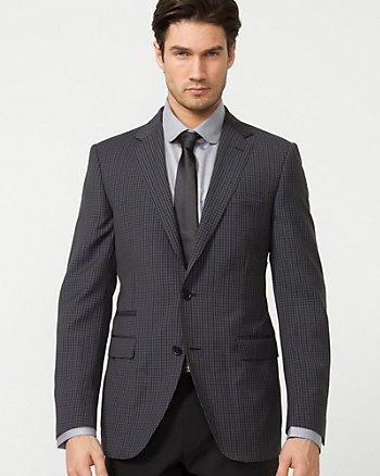 Wool Check Slim Fit Blazer