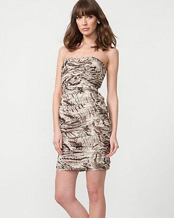 Chiffon Animal Print Dress