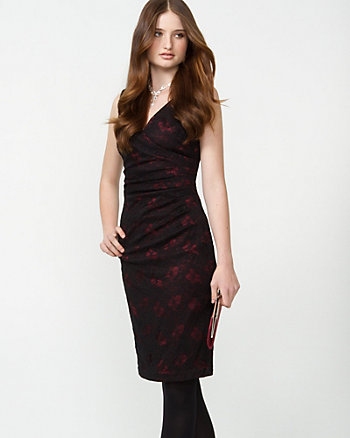 Lace & Satin Cocktail Dress