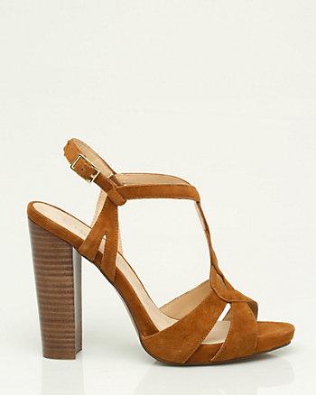 Suede T-Strap Sandal