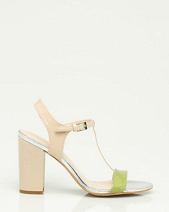 Patent T-Strap Sandal