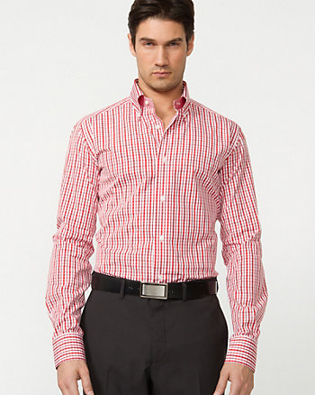Cotton Check Tailored Shirt