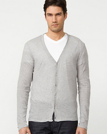 Cotton Semi-Fitted Cardigan