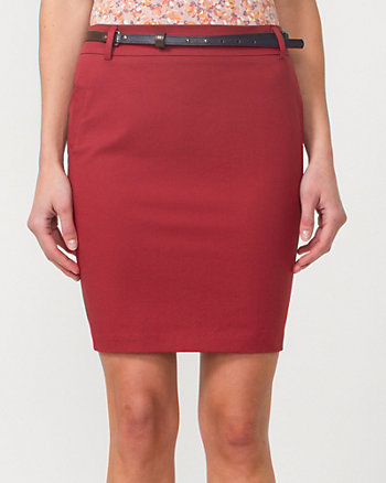Cotton Twill Pencil Skirt