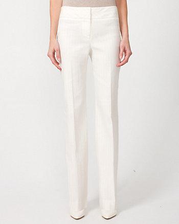 Linen Blend Stripe Flare Leg Pant
